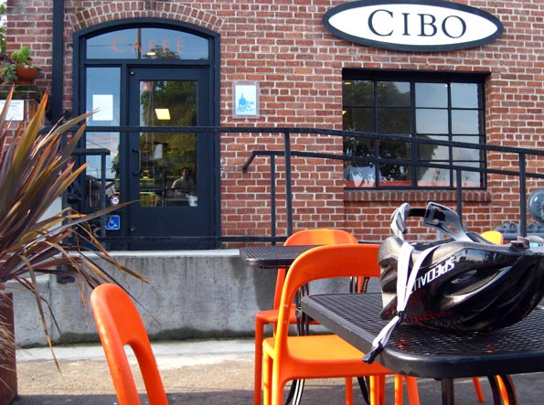 Exterior of Cibo Caffe in Sausalito, California, USA