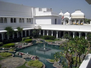 Taj Lake Palace - interior courtyard - Udaipur, Rajasthan, India