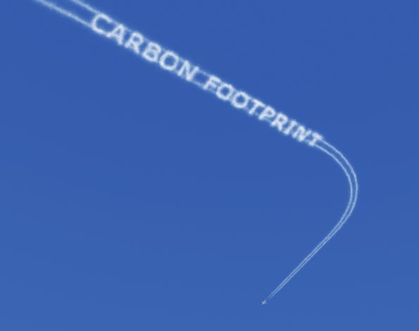 Carbon footprint jet