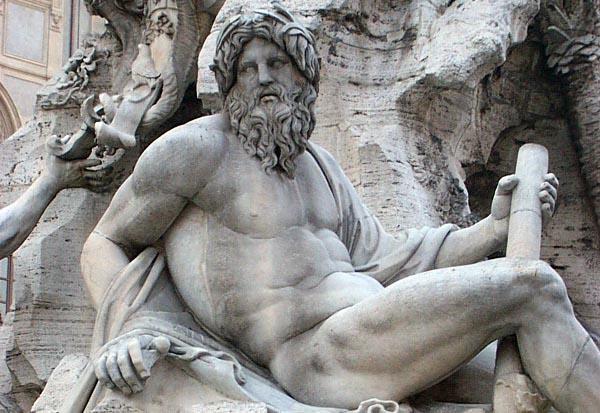 Bernini fountain at  Piazza Navona - Rome, Italy