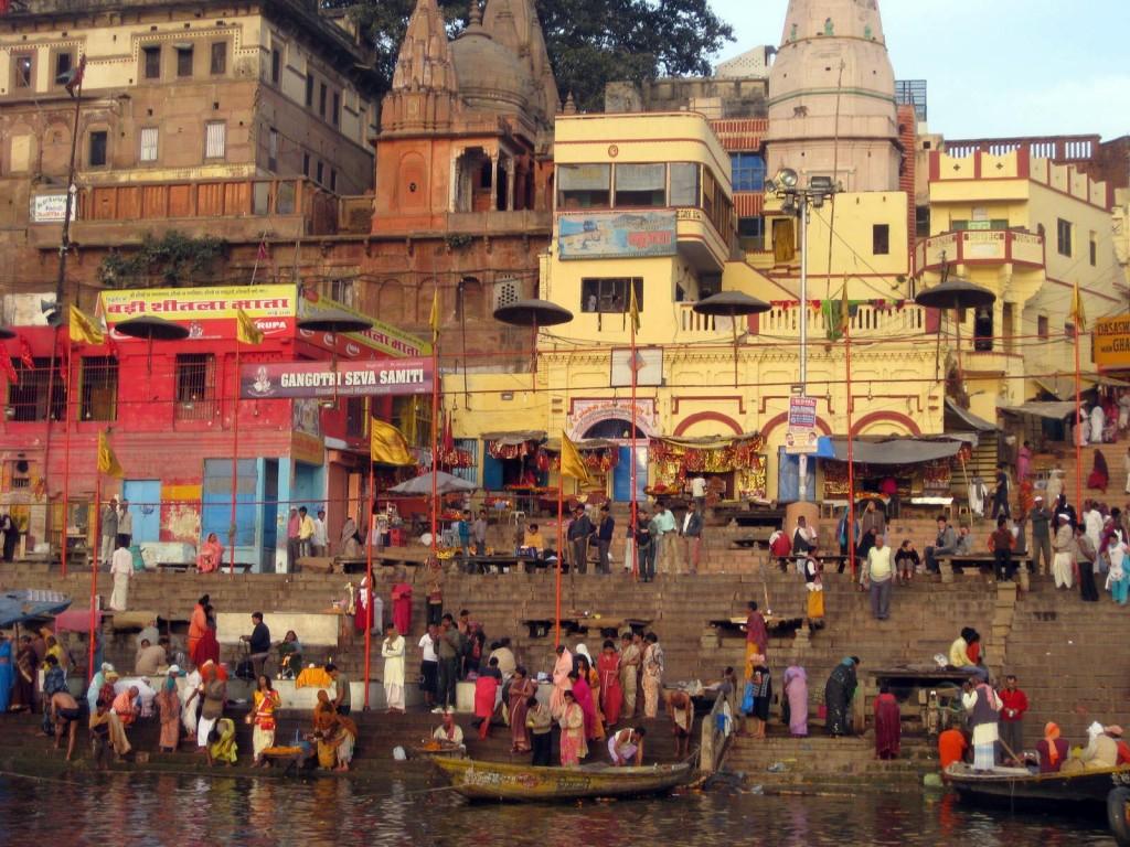 Bathing ghats on the Ganges - Varanasi, Uttar Pradesh, India