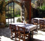 Outdoor dining patio of a country inn - Cyprus