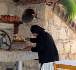 Cypriot grandmothers still wear traditional black in Cyprus mountain villages