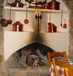 Ancient hearth at Lofou Tavern in the Troodos Mountains of Cyprus