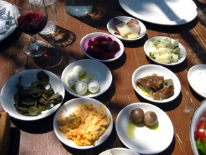 Organic mezes keep coming at 7 St Georges Tavern in Cyprus