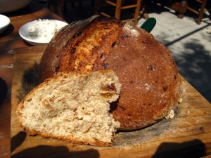 Rustic bread at 7 St Georges Tavern in Cyprus is made from a 2 thousand year old recipe