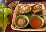 Lao finger food at Tamarind restaurant, Luang Prabang, Laos