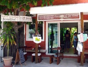 Elements of the Island Cafe on Isla Mujeres, Mexico