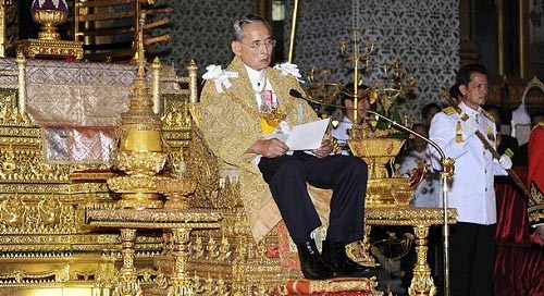 2009 birthday speech by Thai King Bhumibol Adulyadej in the Grand Palace, Bangkok, Thailand
