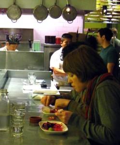 Diners at Nopalito organic Mexican restaurant in San Francisco, USA