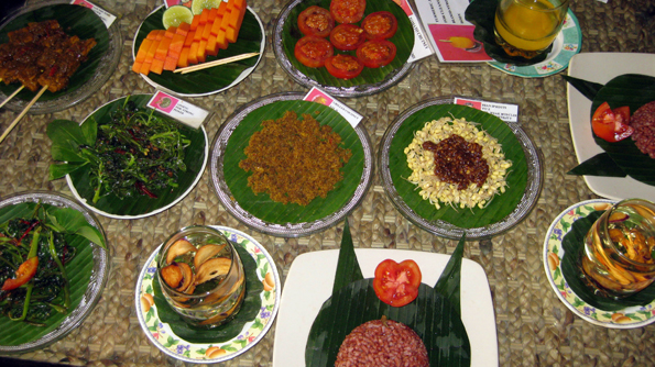 Dr Wayan's healthy lunch in Ubud, Bali, Indonesia