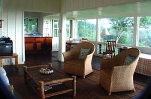 Interior of Sunrise Cottage, Puu O Hoku Ranch on Molokai, Hawaii, USA
