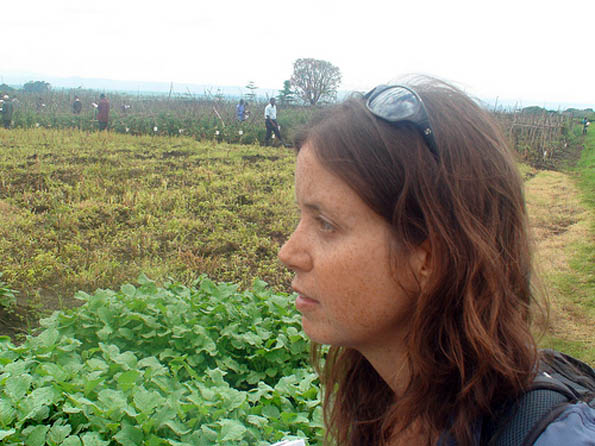 Danielle Nierenberg of Worldwatch Institute's Nourishing the Planet at World Vegetable Center in Arusha, Kenya