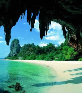 Railey Beach on Phranang Peninsula, near Krabi, Thailand
