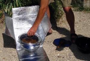 Homemade solar oven in Ajijic, Mexico