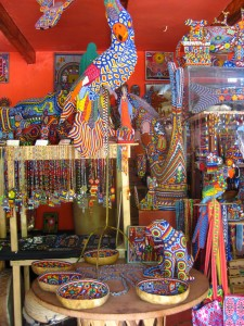 Huichol beaded art in Ajijic, Mexico