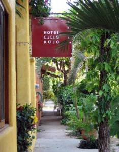 Entry to Hotel Cielo Rojo in San Francisco, Nayarit, Mexico