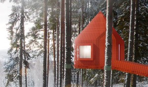 The Blue Cone, Treehotel near Harads, Sweden