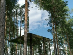 The Mirrorcube, Treehotel near Harads, Sweden