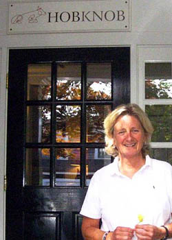 Maggie White, owner of Hob Knob Inn - Edgartown on Martha's Vineyard, Cape Cod, Massachusetts, USA