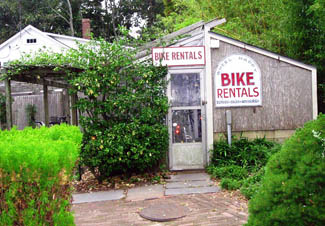 Bike rental on Martha's Vineyard, Cape Cod, Massachusetts, USA