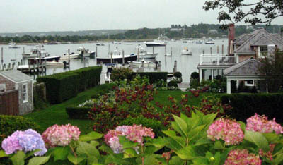 Edgartown harbor on Martha's Vineyard, Cape Cod, Massachusetts, USA