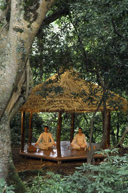 Meditation at Harmony Spa, Gokarna Forest Resort in Kathmandu, Nepal