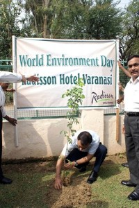 Radisson Hotel Varanasi employees plant trees for World Environment Day in Varanasi, India