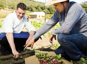Murray Circle Chef Everett on the farm in Sonoma, California, USA