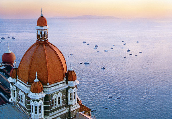 Dome view of Arabian Sea, Taj Mahal Palace in Mumbai, India