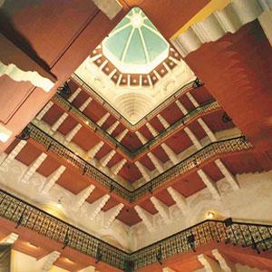 Staircase, Taj Mahal Palace in Mumbai, India