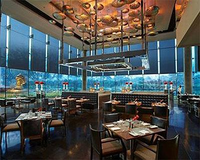 Qube restaurant, Leela Palace Hotel in New Delhi, India