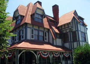 Victorian-style Physick Mansion in Cape May, NJ, USA