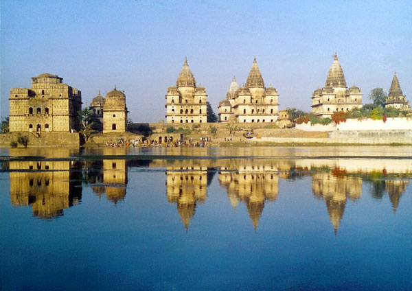 Cenotaphs in Orchha, Madhya Pradesh, India