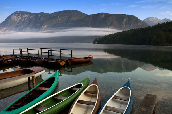 Lake Bohinj in Triglav National Park, Slovenia