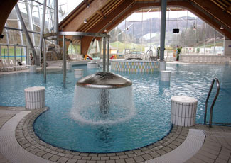 Indoor pools, Terme Snovik in Tuhinj Valley, Slovenia