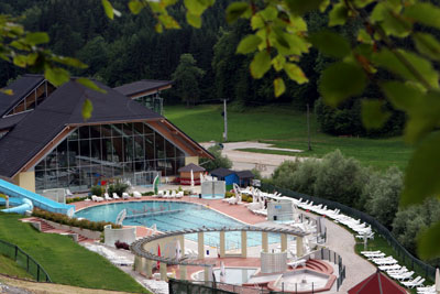 Outdoor pools, Terme Snovik in Tuhinj Valley, Slovenia