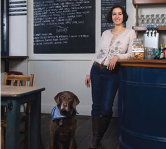 Geetie Singh, proprietress, Duke of Cambridge organic gastropub in London, England
