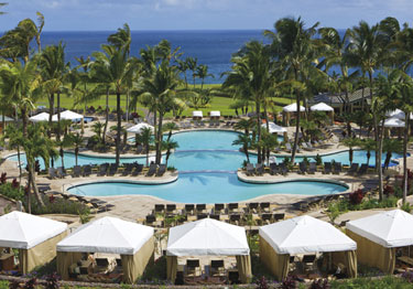 Pool, Ritz-Carlton Kapalua on Maui, Hawaii, USA