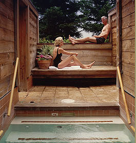 Japanese baths, Ventana Inn in Big Sur, Calif., USA
