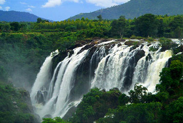 Waterfall in the Western Ghats in Karnataka state, India
