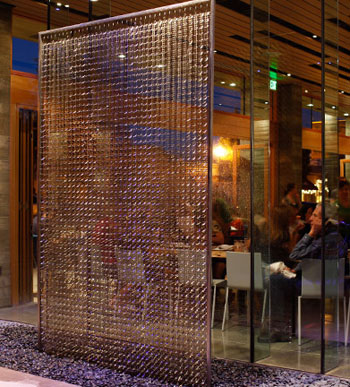 Spoonbar fountain, H2Hotel in Healdsburg, Calif., USA