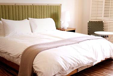 Guestroom, H2Hotel in Healdsburg, Calif., USA