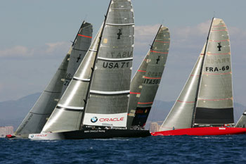 America's Cup-class racing boats