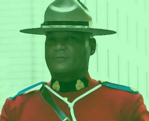 Green Canadian mountie
