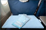 Green sky genius: tray table cover from recycled plastic