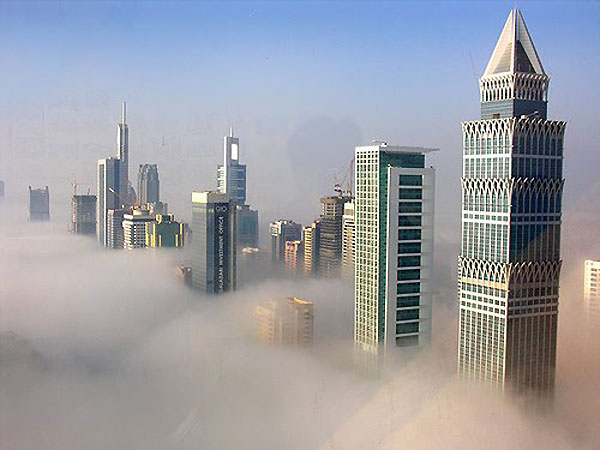 Sandstorm in Dubai, United Arab Emirates