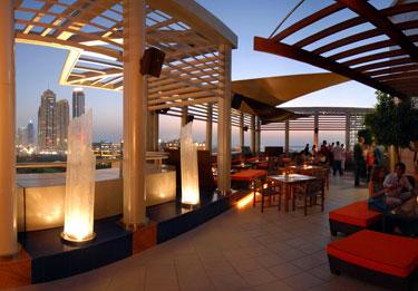 Tamanya terrace, Radisson Blu in Dubai, United Arab Emirates