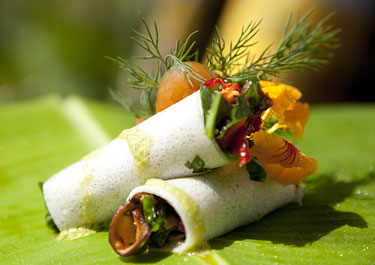 Veggie wrap, Fivelements in Banjar Baturning, Mambal, Bali, Indonesia