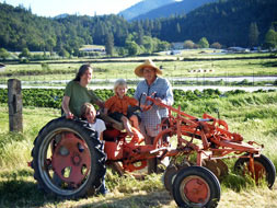 Alionis family, Whistling Duck Farm in Applegate Valley, Oregon USA
